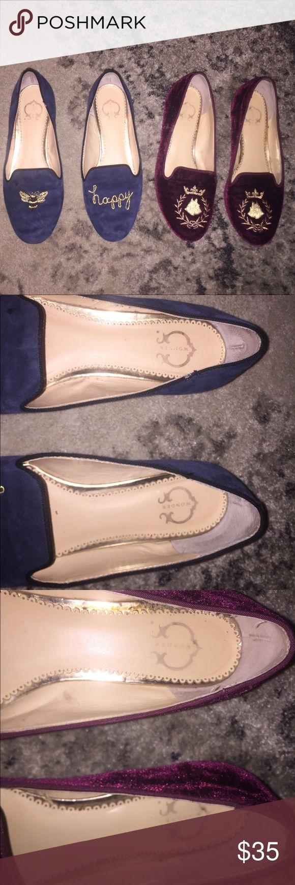 2 pairs of C Wonder Shoes If you love Tory Burch...you may know C Wonder.  This was the brand her Ex husband created. His  products were made out of her same factory. Including 2 pairs of flats. Great shoes.  Gently worn and overall great condition. Tagging these as Tory Burch for name recognition only. Tory Burch Shoes Flats & Loafers