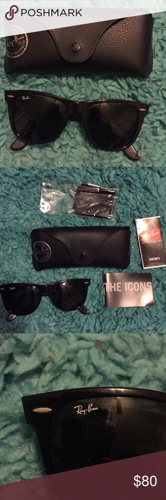 Ray ban wayfarer RB2140 54size Bought from Amazon. Used twice. RB2140 classic Ray Ban wayfarer Includes case and all Ray-Ban Accessories Glasses