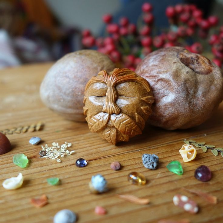 Jan Campbell Creates Magical Celtic Folklore Figurines Out Of Avocado Pits