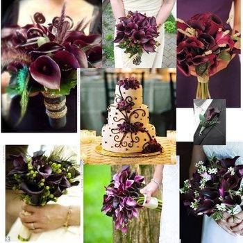 Show me all purple bridal bouquets photo 3008537-1