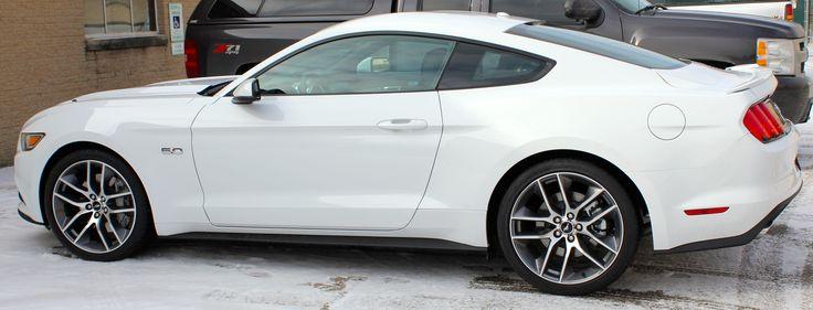 White 2015 Mustang GT