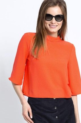 Vero Moda - Bluzka oversize krótki rękaw Fallon