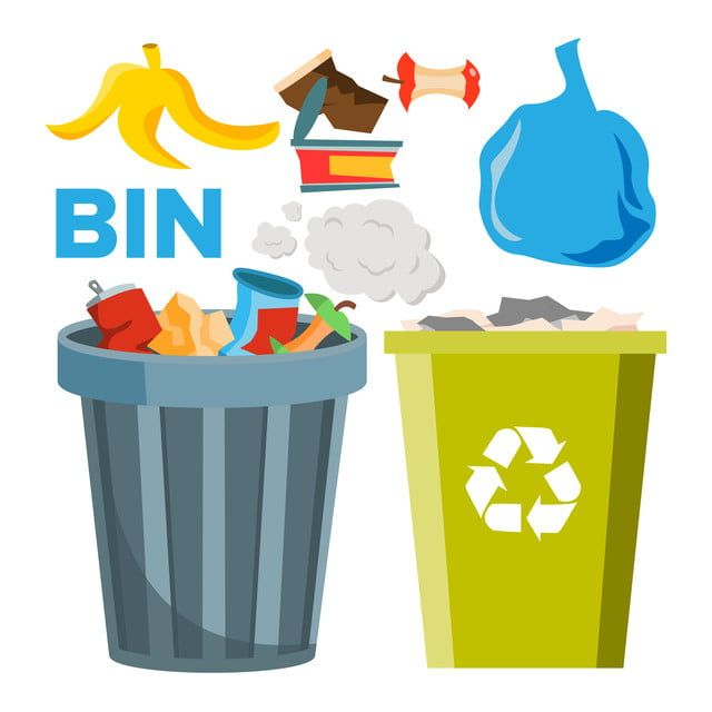 Bin Trash Icons Vector Classic And Recycling Bins Isolated Flat Cartoon Illustration Bin Clipart Flat Cartoon Png And Vector With Transparent Background For Cartoon Illustration Recycling Bins Recycling