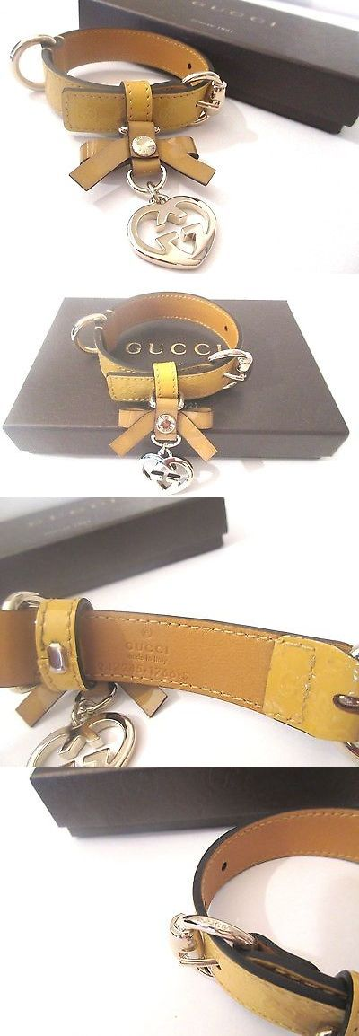 Collars 63057: Authentic Gucci Dog Collar Gg Embossed Leather Logo Microguccissima Small -> BUY IT NOW ONLY: $269 on eBay!