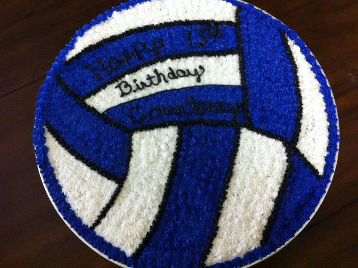 Volleyball cookie cake