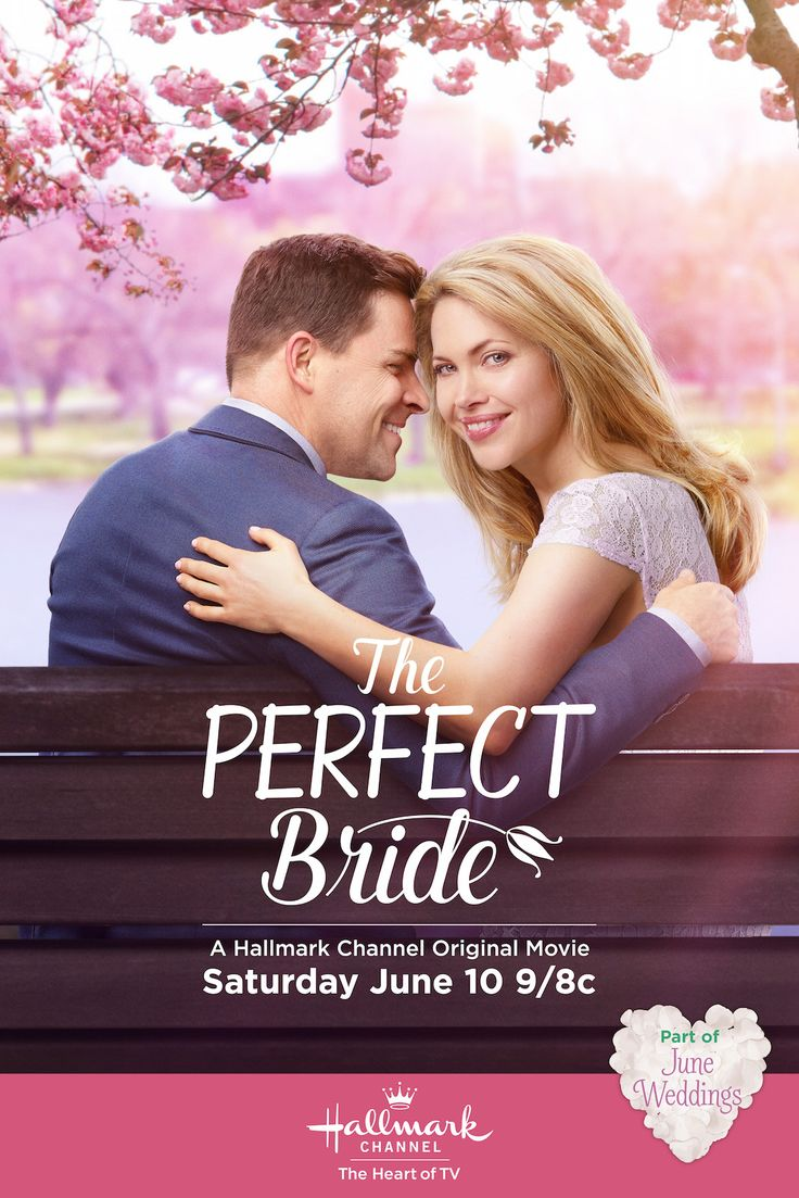 "When Calls the Heart's Pascale Hutton and Kavan Smith star in ""The Perfect Bride."" Enjoy four new original movies celebrating June Weddings on Hallmark Channel, Saturday nights 9/8c.  #hearties #JuneWeddings #HallmarkChannel"