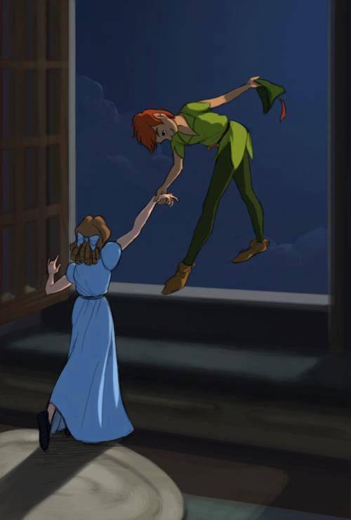 Peter Pan and Wendy Moira Angela Darling