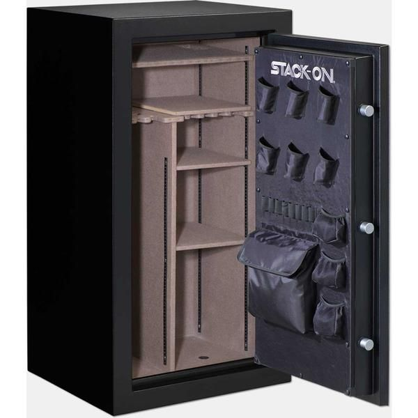 Stack-On Armorguard 40-Gun Fire Resistant Electronic Lock Safe-Gun Safe. Stack-On is well-known among Gun Owners for their Quality and Affordable Safes -  Stack-On Biometric Gun Safe   Stack-On Armorguard gun safe - Stack-On Total Defense gun safe - Stack-On Tactical Security gun safe - Stack-On Executive gun safe -  Stack-On Elite gun safe - Stack-On Woodland gun safe - Stack-On Hunter Green gun safe