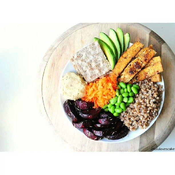 Spicy tofu • Wheat berries • Oven roasted beets with rosemary ...