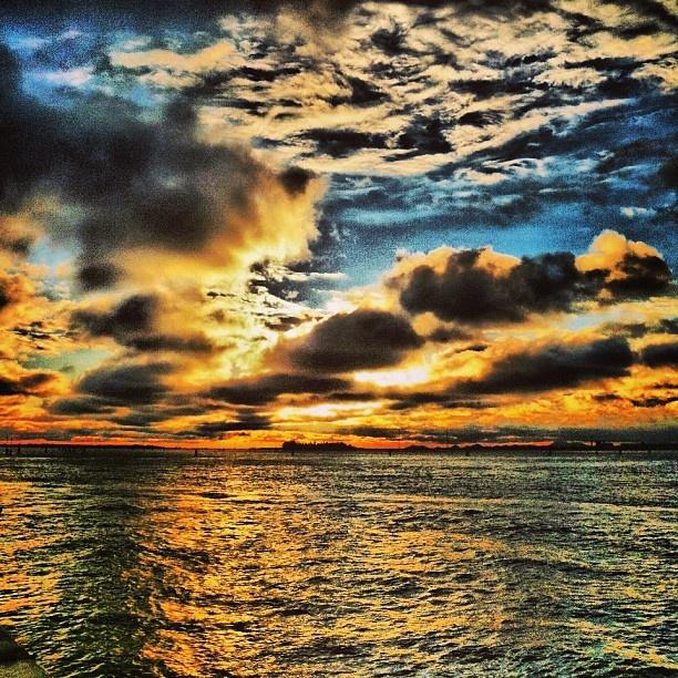 laguna di venezia tramonto