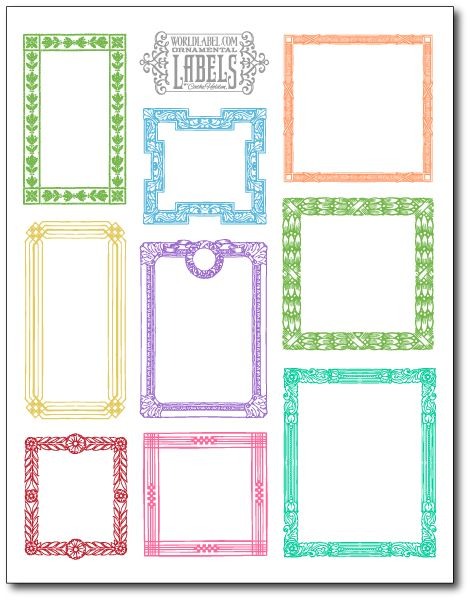 Free printable labels/cards at World Label