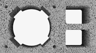 Komin z pojedynczą wentylacją Wymiar zewnętrzny: 36x52 cm Średnica wkładu (cm): 16+W (waga 123 kg/mb) 18+W (waga 126 kg/mb) 20+W (waga 128 kg/mb)