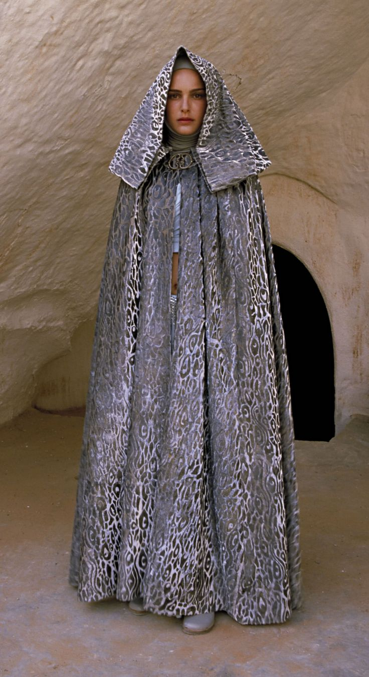 Star Wars Episode II. Padmé Amidala (Natalie Portman) traveling cloak. Worn on her trip to Tatooine with Ankin Skywalker.