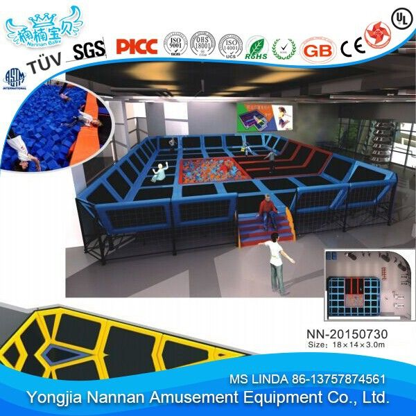 """Fashion commercial Indoor large trampoline park , cheap trampoline For adult and kids for sale"""