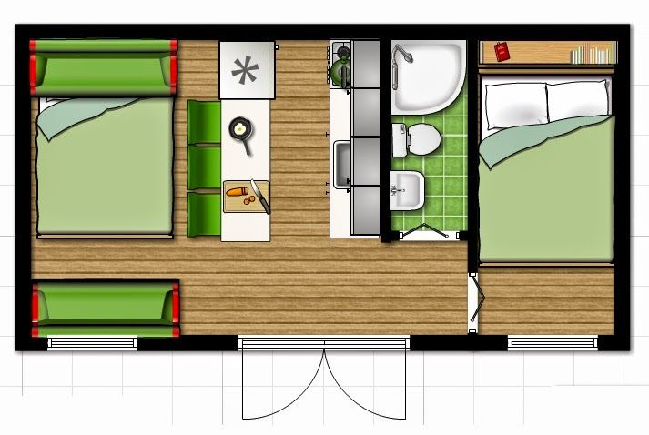 A Little Bit of This, That, and Everything: Tiny House Layout