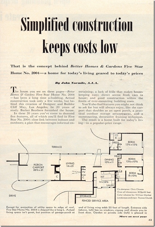 1000 images about mid century modern house plans and for Cliff may floor plans