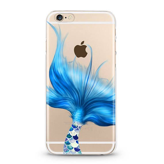 Mermaid Tail iphone 7 case,  iPhone 6 case, iphone 6s  plus case, Samsung galaxy S7 edge  transparent clear case