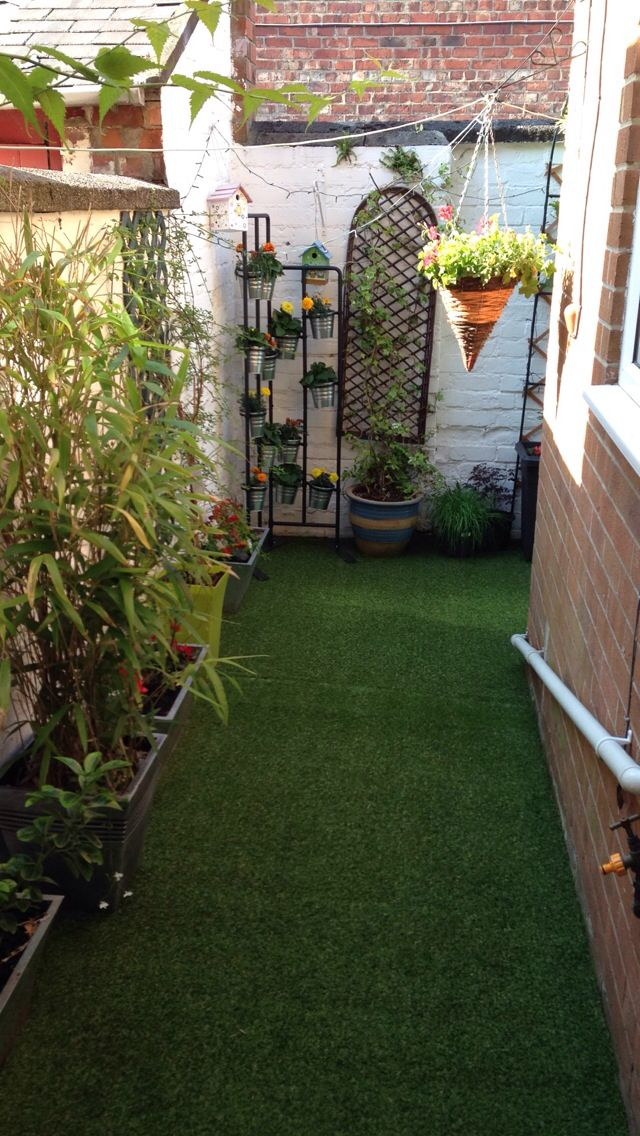 Artificial grass in my back yard