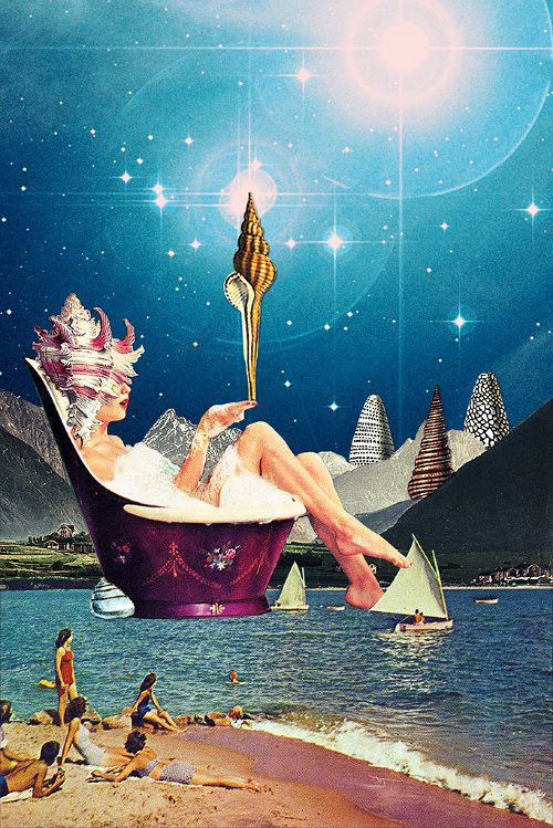 New Mythology - Eugenia Loli's Collages, Thetis One of the 50 water-nymph Nereids, mother of Achilles.