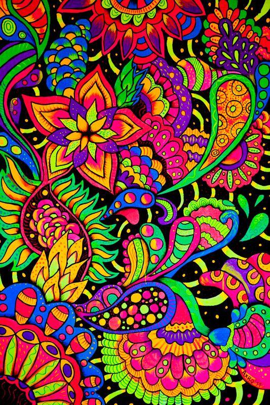 Live a colorful life!  #ZentangleDesign #art