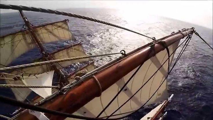 Sailing on Bark Europa
