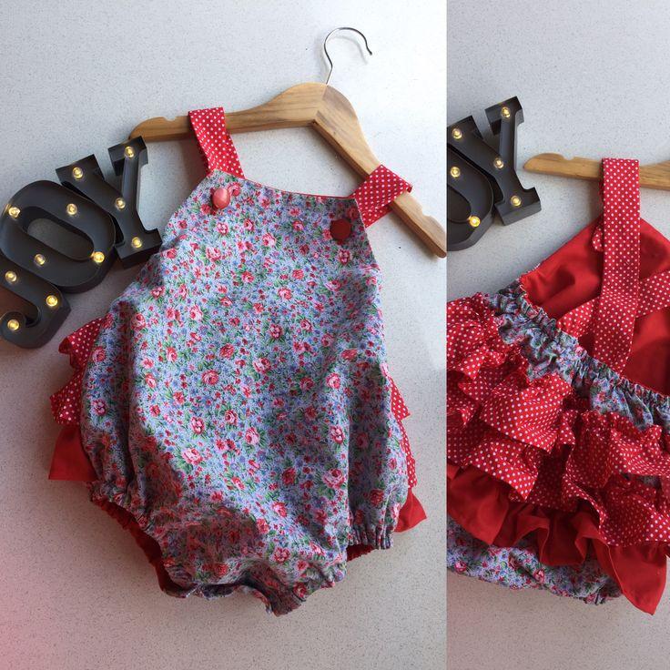 'Joy' - Handmade baby rompers BEAR+MOO+DO