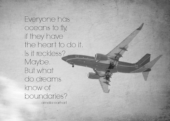 Amelia Earhart Print Woman Quote Airplane By KimberosePhotography Awesome Airplane Quotes