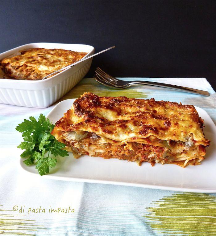 Di pasta impasta: Lasagne al ragù di carciofi