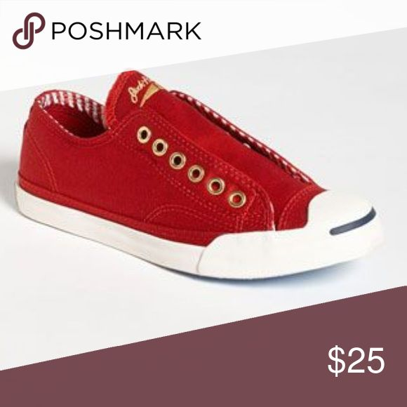 ISO Women's Converse Jack Purcell I've seen these a couple of times in Converse outlet stores but haven't been able to find my size. They usually include navy blue laces. Looking for women's size 7 or 7.5. Converse Shoes Sneakers