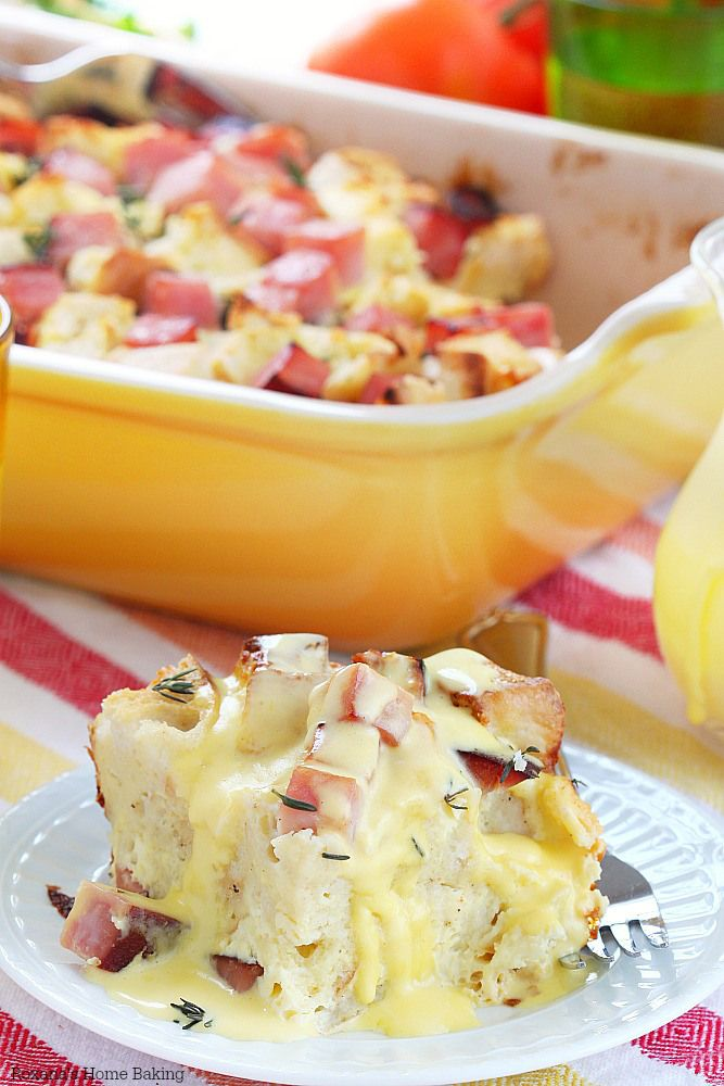Overnight eggs benedict casserole recipe (maybe use a little sauteed onion instead of onion powder?)