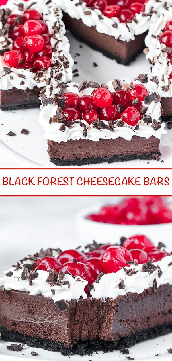 Black Forest Cheesecake Bars Girl Scout cookies wi…
