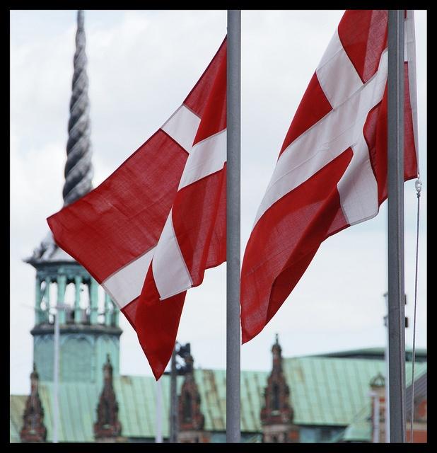 Daneborg; Danish flag Børsen, Copenhagen; Denmark