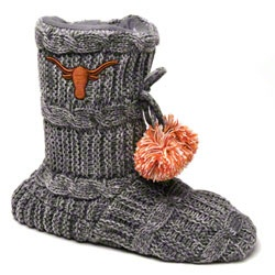 Texas Longhorns Women's Knit Fashion Bootie $27.99 http://www.fansedge.com/Texas-Longhorns-Womens-Knit-Fashion-Bootie-_1910203228_PD.html?social=pinterest_pfid52-05027: Longhorns Women, Texas Longhorns, Longhorns Hooks Ems, Longhorns Fashion
