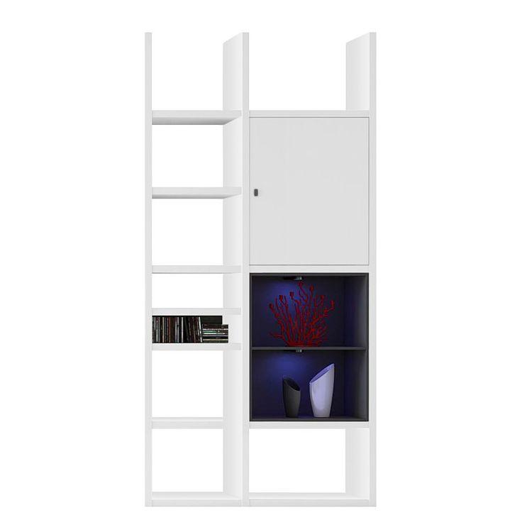 EEK A+, Regal Emporior IV   RGB LED Beleuchtung   Weiß / Schwarz, Loftscape  Jetzt Bestellen Unter: ...