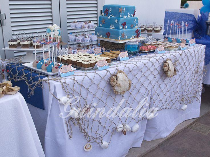 Mesa dulce estilo marinero para la inauguraci n de una - Decoracion estilo marinero ...