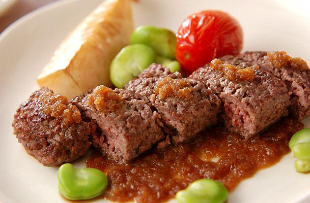 牛ひき肉ステーキ[和食/焼きもの]2003.05.26公開のレシピです。