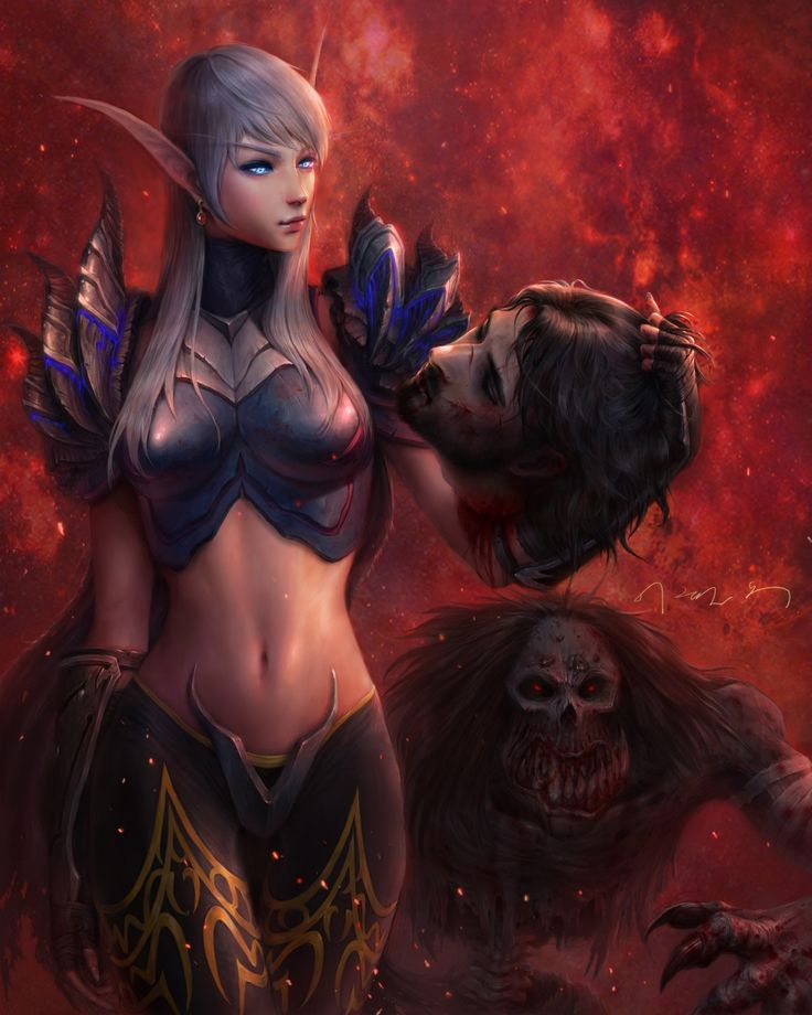 Blood Elf Death Knight   Elune