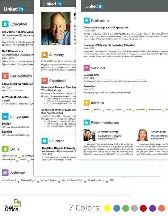 Resume Templates Linkedin In 2020 Lebenslauf Vorlagen Lebenslauf Lebenslauf Vorlagen Word