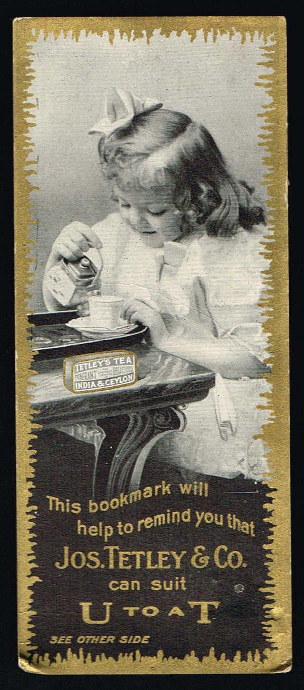 Vintage Trade Card/Bookmark - Tetley's India and Ceylon Tea | eBay