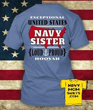 US NAVY SISTER Shirts & Hoodies - Other family members available too! NavyMomShirts.com #NavySister