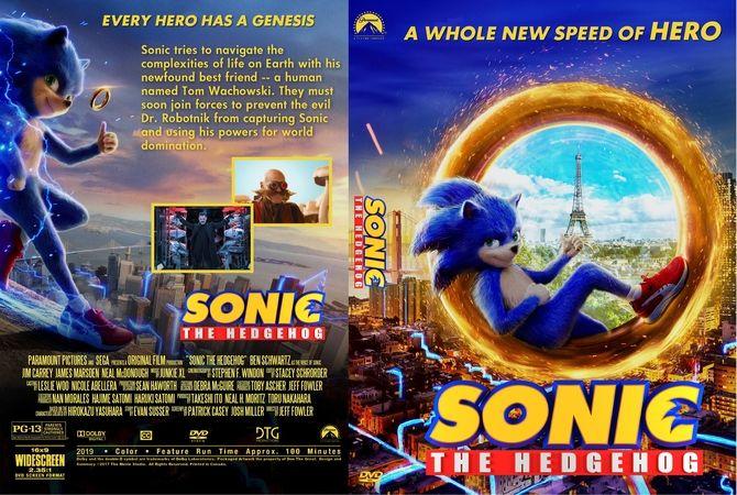 Sonic The Hedgehog 20190 Dvd Custom Cover Dvd Cover Design