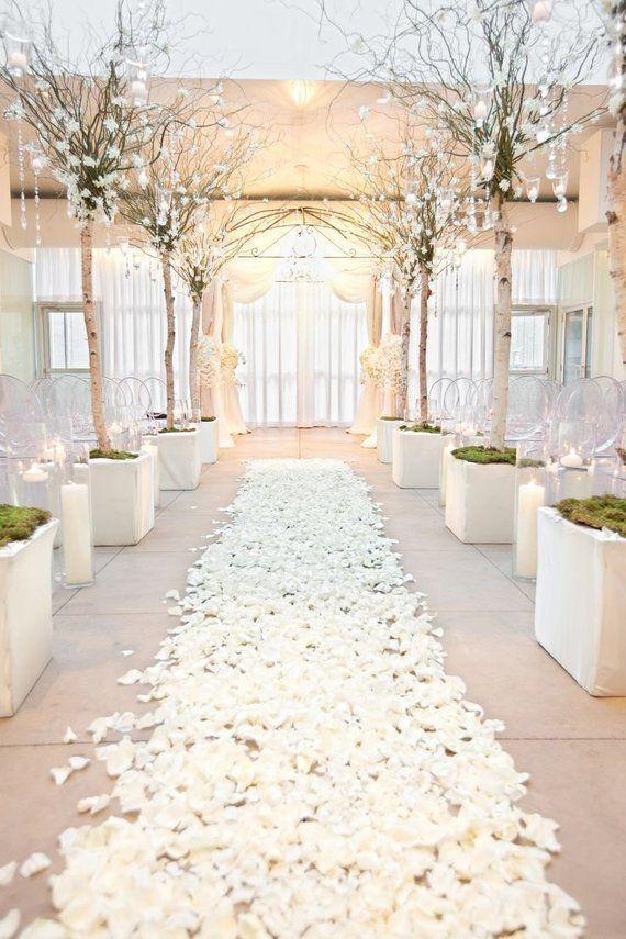 10000 White Silk Flower Petals Wholesale Flower Petals Wedding Aisle Decorations Artificial Flower Petals Bulk Sale Event Centerpieces