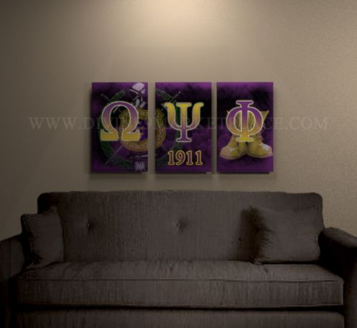 Omega Psi Phi canvas art