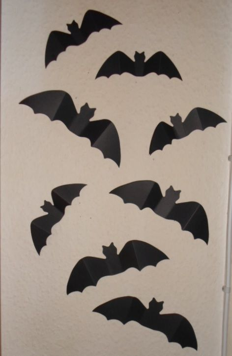 Bats on the wall.