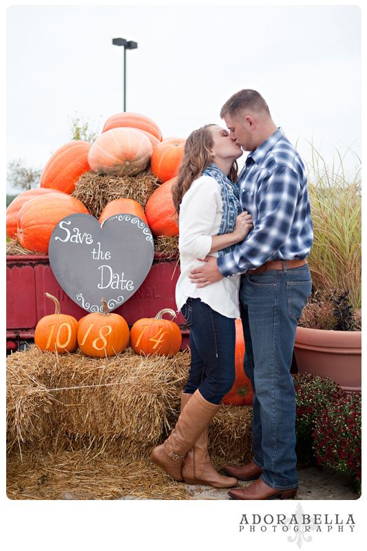 #Pumpkins with #SavetheDate #fall #engagement photography