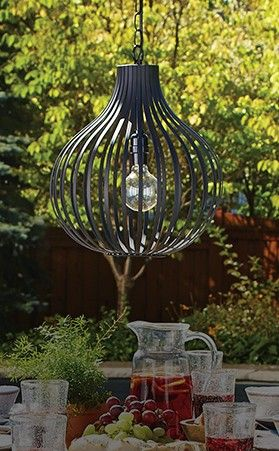 Canvas oslo outdoor chandelier provides style and function to your outdoor space