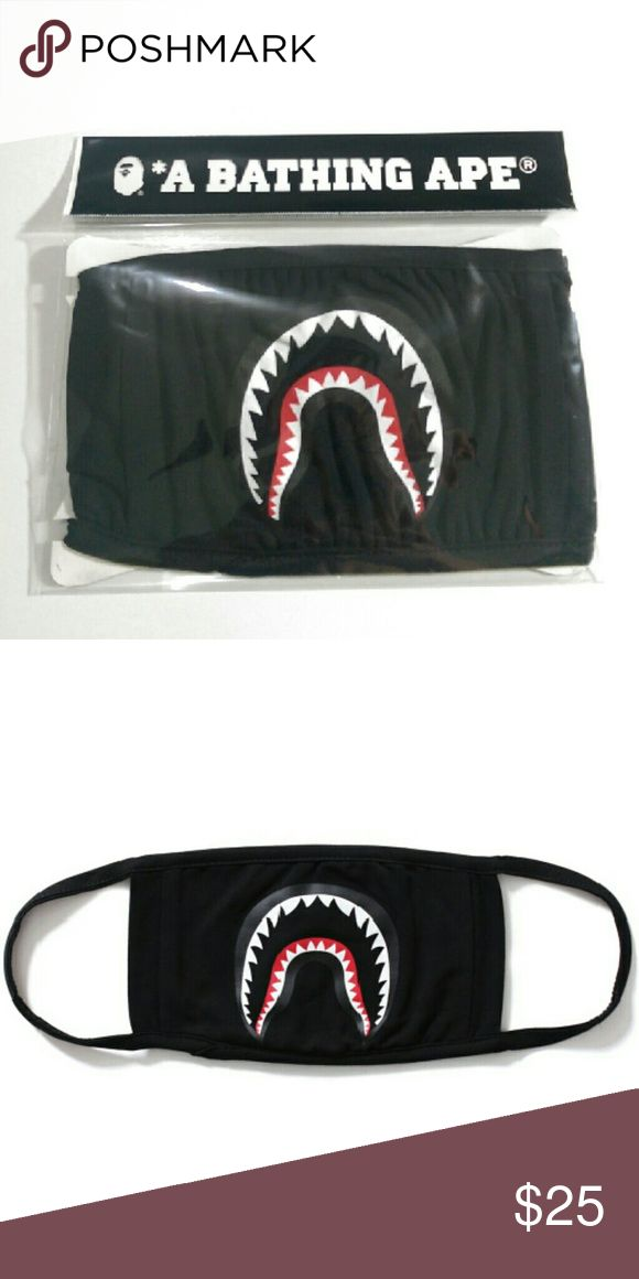 Bape shark black mask PRICE FIRM AUTHENTIC  Brand new in bag Fast shipping (will ship same day if purchased before 1pm) with 2-3 days priority mail bape Accessories Hats