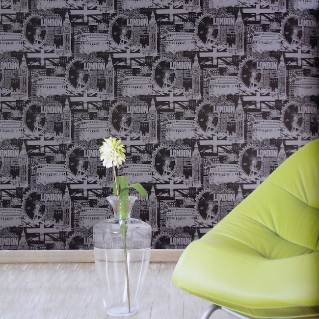 Black & White Collection by Vision BW28746.  Wallpapershop / Murrays Interiors