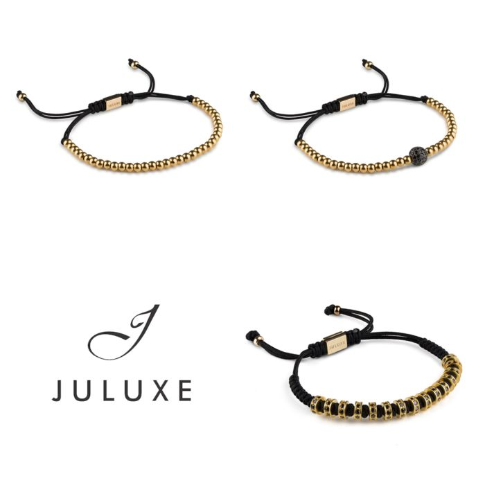 Three Gold Juluxe bracelets A massive bracelet for anybody with enough guts to wear it.