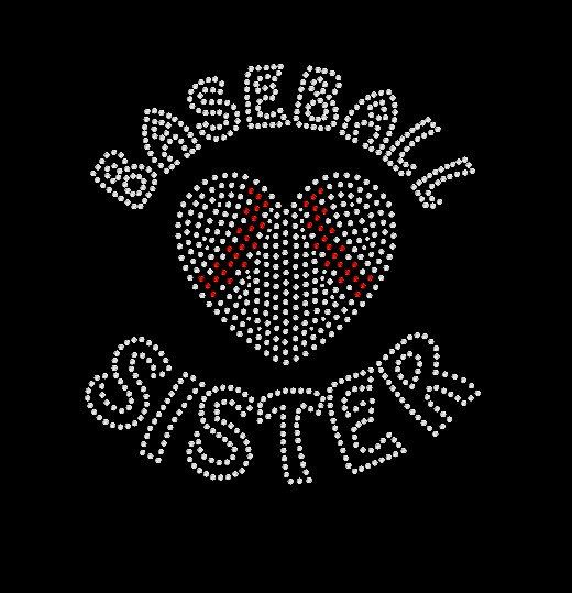 Baseball soeur Tshirt, Sweat à capuche strass ou Tshirt manches longues